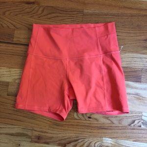 Lululemon EUC Bike Shorts Luon Pink Salmon 10